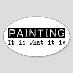 Painting Is Oval Sticker