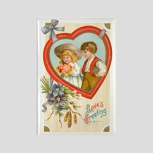Valentine Couple Rectangle Magnet