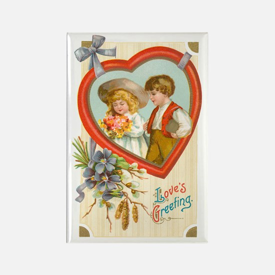 Valentine Couple Rectangle Magnet