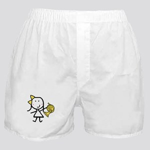 Girl & French Horn Boxer Shorts