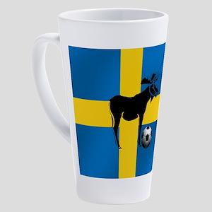 Swedish Soccer Elk Flag 17 Oz Latte Mug