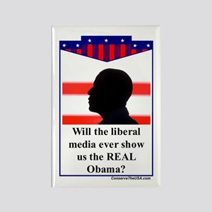 """""""The Liberal Media"""" Rectangle Magnet"""