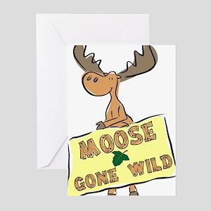 Moose Gone Wild Greeting Cards (Pk of 10)