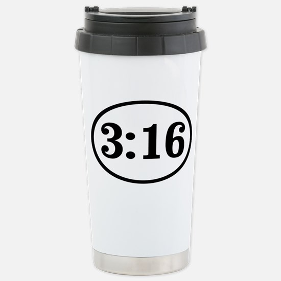 3:16 Stainless Steel Travel Mug