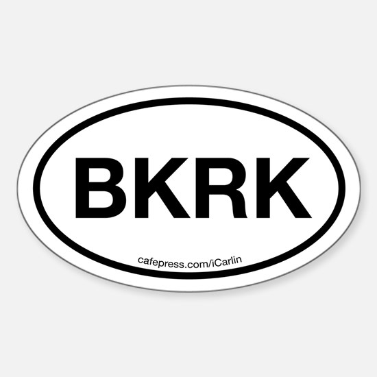The Black Rock Oval Decal