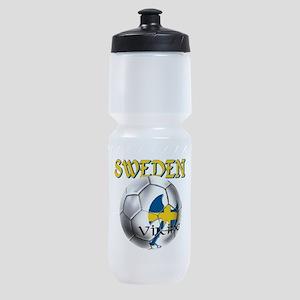 Sweden Football Sports Bottle