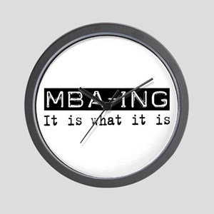 MBA-ing Is Wall Clock