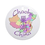 Chaohu China Map Ornament (Round)