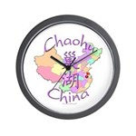 Chaohu China Map Wall Clock