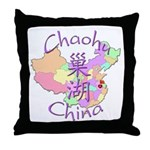 Chaohu China Map Throw Pillow