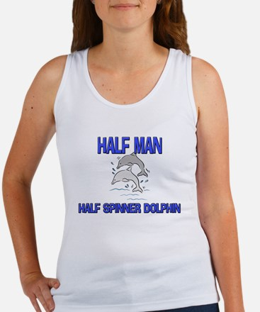 Half Man Half Spinner Dolphin Women's Tank Top