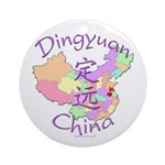 Dingyuan China Map Ornament (Round)
