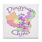 Dingyuan China Map Tile Coaster