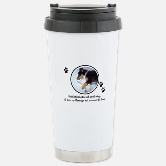 Sweet Sleeping Puppy Stainless Steel Travel Mug