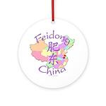 Feidong China Map Ornament (Round)