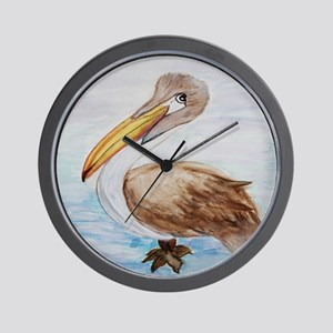 Brown Pelican Wall Clock