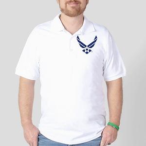 USAF U.S. Air Force Logo Golf Shirt