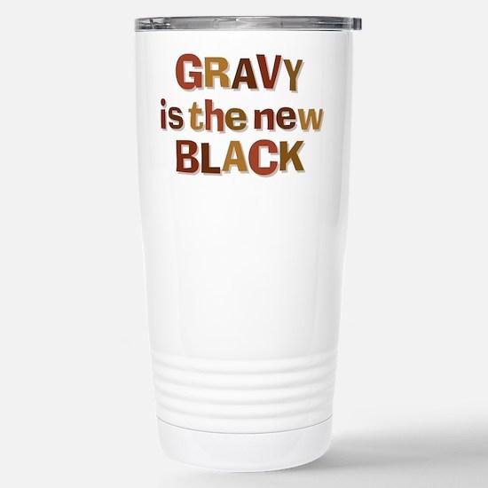 Gravy is the new Black Stainless Steel Travel Mug
