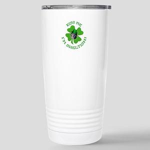 Tri-color Sheltish Stainless Steel Travel Mug