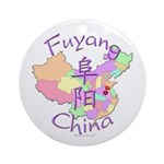 Fuyang China Map Ornament (Round)