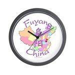 Fuyang China Map Wall Clock