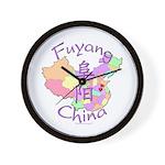 Fuyang China Map Wall Clock