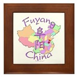 Fuyang China Map Framed Tile