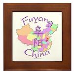 Fuyang China Map Framed Tile