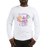 Fuyang China Map Long Sleeve T-Shirt