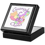 Guangde China Map Keepsake Box