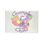 Guangde China Map Rectangle Magnet (10 pack)