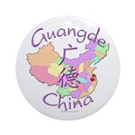 Guangde China Map Ornament (Round)