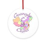 Guangde China Map Ornament (Round)