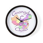 Guangde China Map Wall Clock