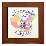 Guangde China Map Framed Tile