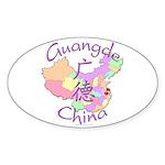Guangde China Map Oval Sticker