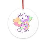 Hefei China Map Ornament (Round)