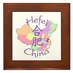 Hefei China Map Framed Tile
