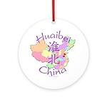Huaibei China Map Ornament (Round)
