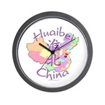 Huaibei China Map Wall Clock
