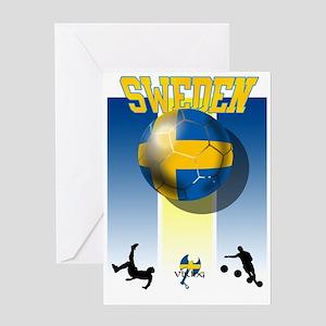 Swedish Football Greeting Cards