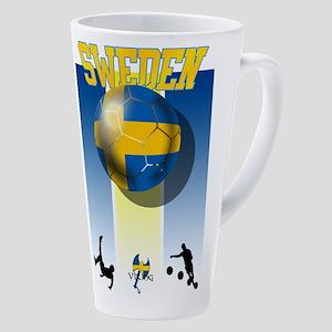 Swedish Football 17 Oz Latte Mug