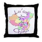 Lu'an China Map Throw Pillow