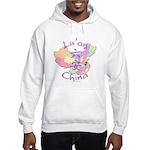 Lu'an China Map Hooded Sweatshirt