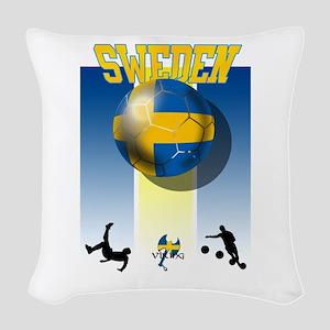 Swedish Football Woven Throw Pillow