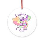 Lujiang China Map Ornament (Round)