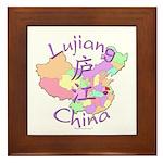 Lujiang China Map Framed Tile