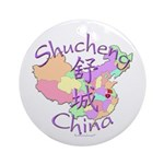 Shucheng China Map Ornament (Round)