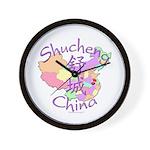 Shucheng China Map Wall Clock
