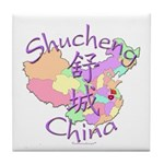 Shucheng China Map Tile Coaster